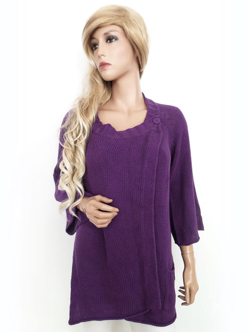 gudrun sj d n gr e l tunika tunic pullover bestickt baumwolle 100 lila ebay. Black Bedroom Furniture Sets. Home Design Ideas