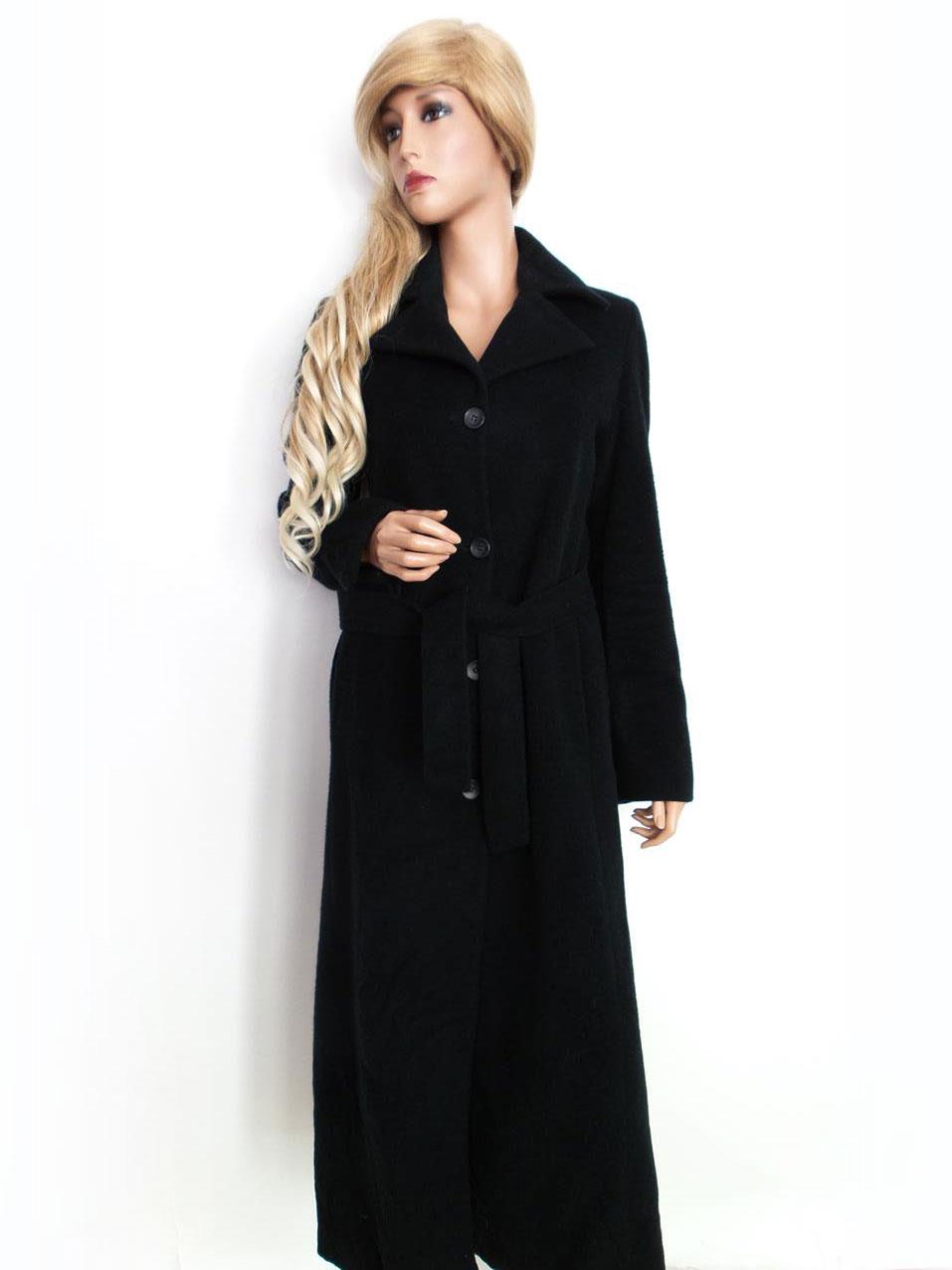 sort lang uldfrakke