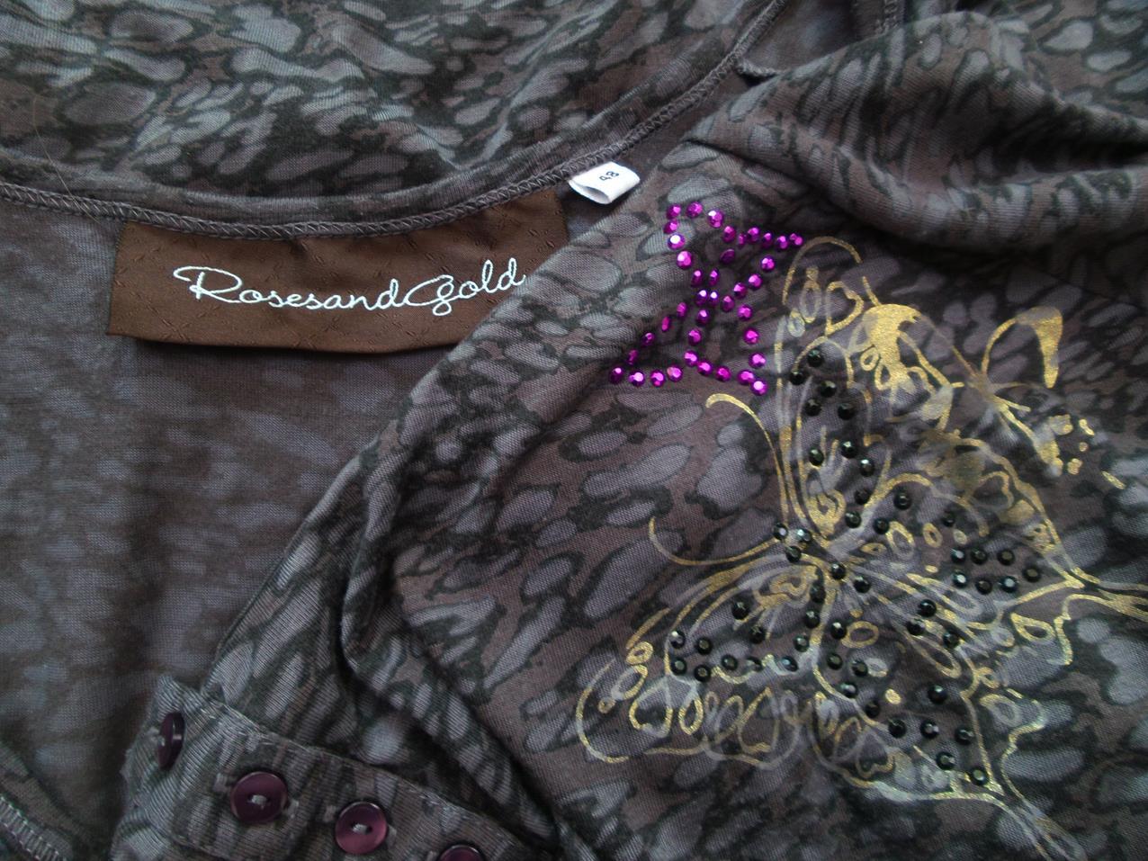 11ab36fb672a Rosesand str 48 guld tunika / kjole rhinestones   RomanticFashion.se