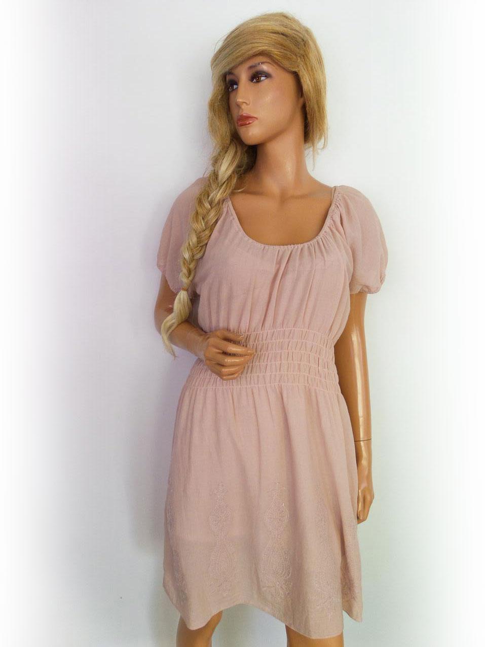 ... mekko paljetti kirjonta puuvillaa jauhe vaaleanpunainen.    8f242eb5db