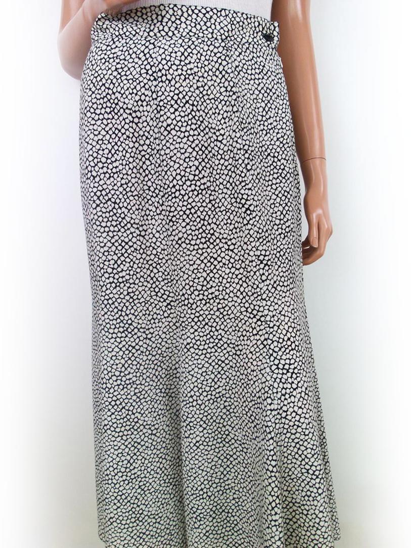 Freundlich Wallis Frauen-dame Größe 12 (40) Rock Open Muster White