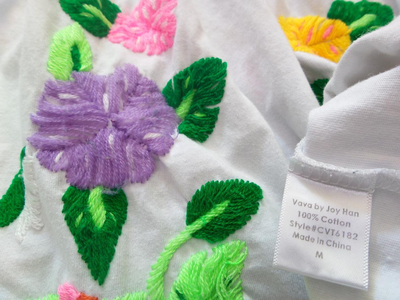 a67a2fdd9a38 ... VaVa by Joy Han rozmiar M Tunika haft kwiaty bawelna biały. <>