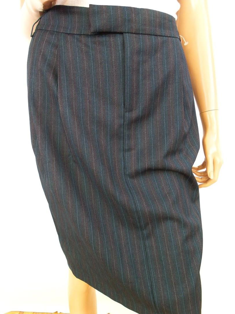 Stefanel Frauen-dame Größe 44 Rock Taschen Navy Blau