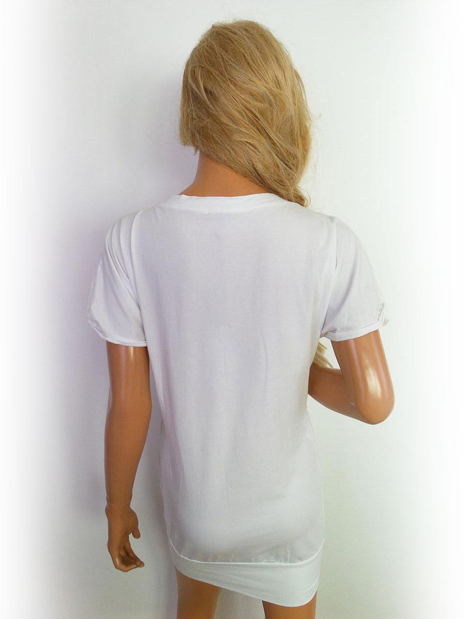Guarapo-Womens-Frauen-Dame-Groesse-S-Neu-White-Shift-Kleid-Kurze-Armel Indexbild 3