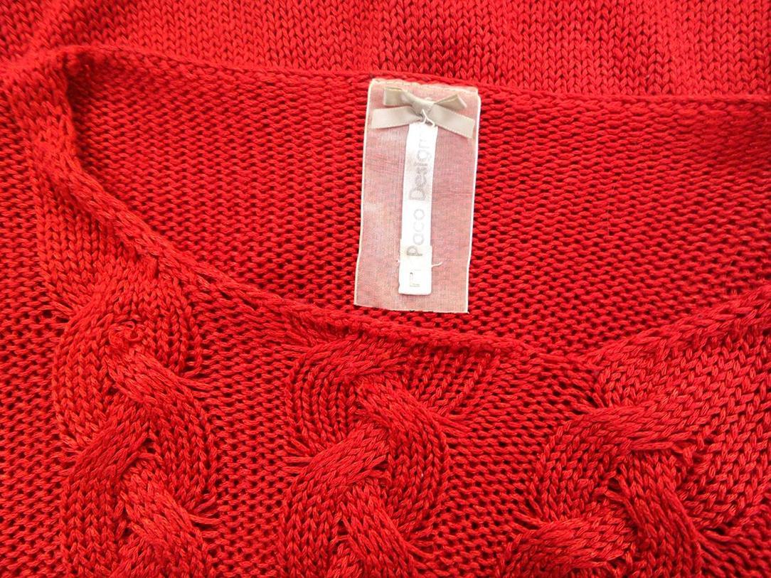 27296381cc02 ... Paco rozmiar L Sweter   Tunika akryl czerwony.