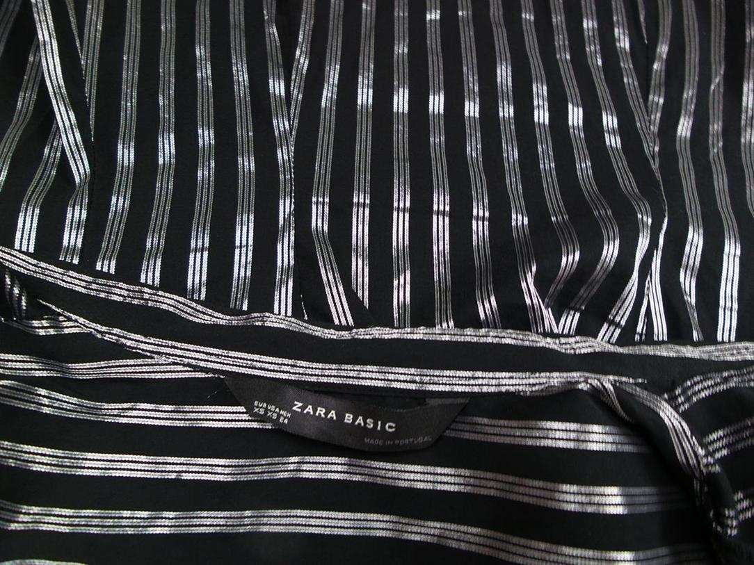 6c1048f6b683 ... ZARA BASIC XS kortærmet Shirt sorte striber.