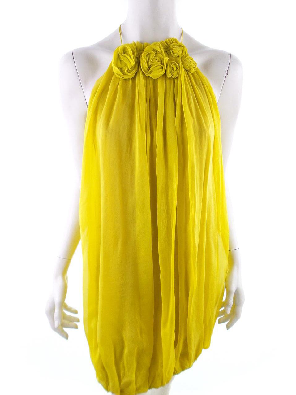 fa7dadf0aa84 Zara storlek M En gul ballongklänning | RomanticFashion.se