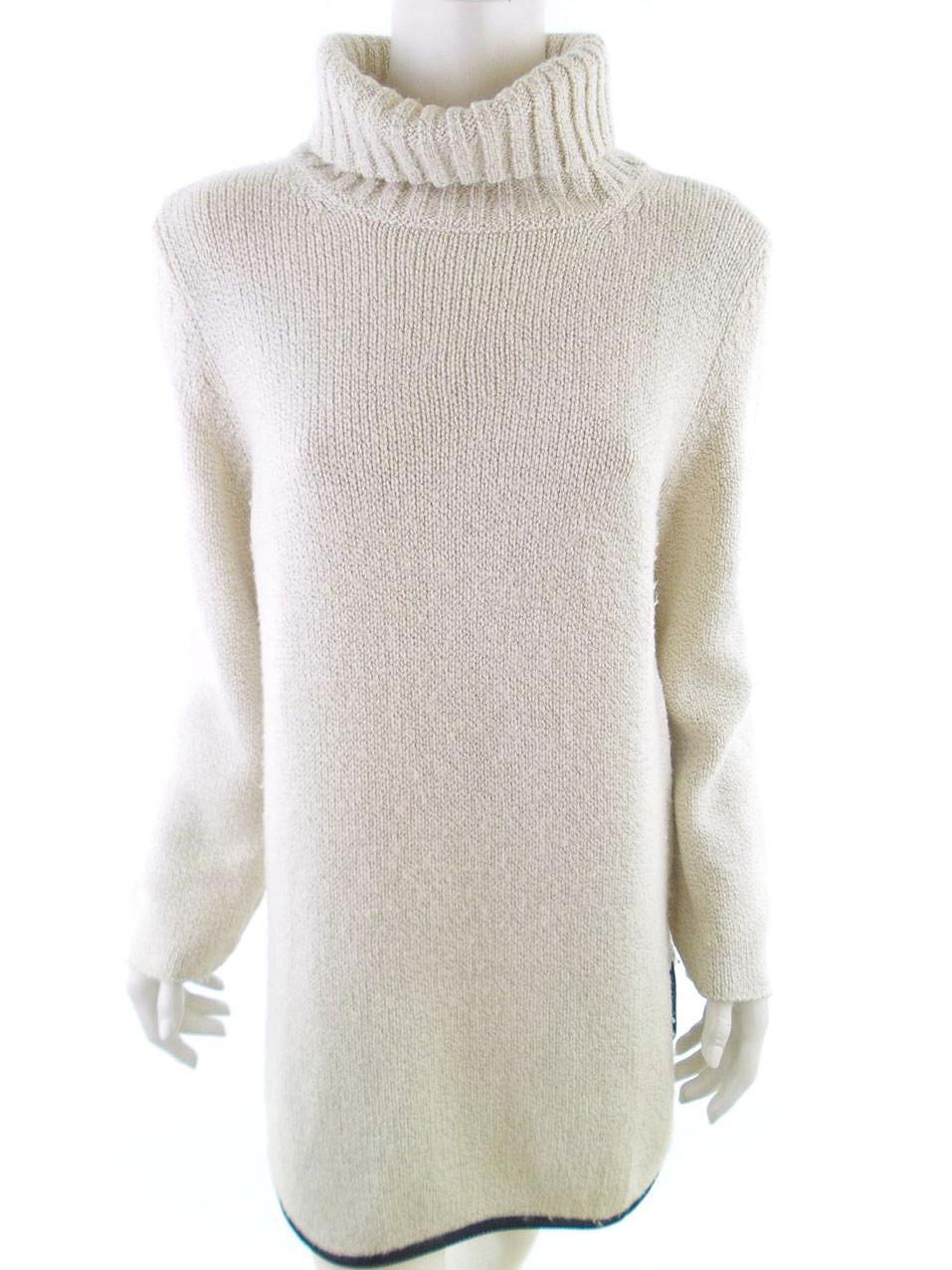 Marccain Taille 4 pull tunique col roulé fille laine crème