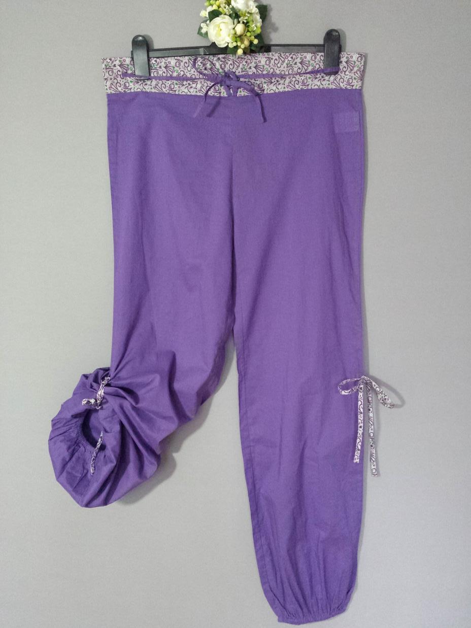 ... ROSE Munde uusi hullu violetti housut koko S.    95acf31a2a